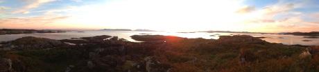 Morar sunset panorama cropped